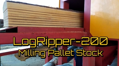 LogRipper-200 Milling Pallet Stock