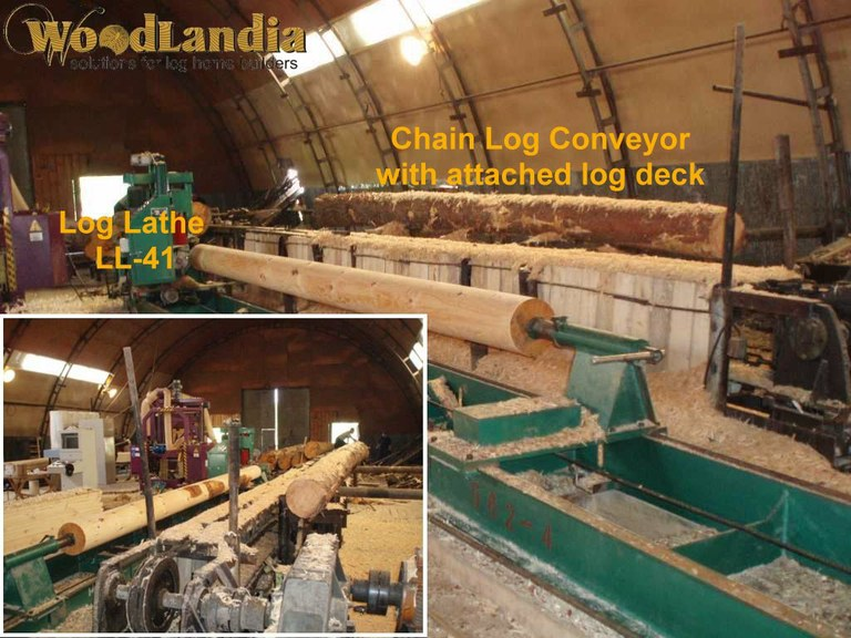 Log conveyor delivers logs to LL-41